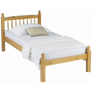 Pamela Single Pine Bed with Mattress